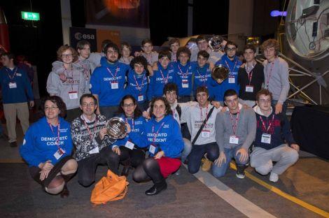 Gli studenti italiani prima della premiazione
